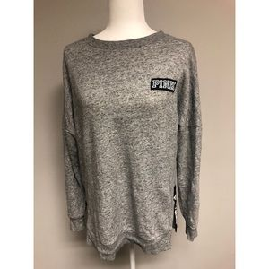 Grey sweater with zipper detail